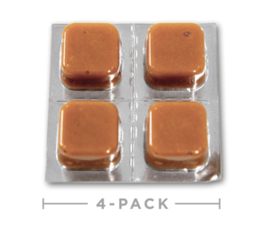 CBD Taffy Caramel 4pk open