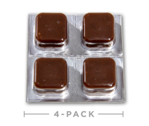 CBD Taffy Chocolate 4pk open